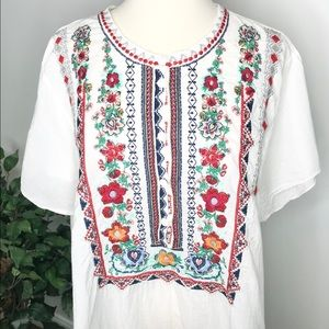 Johnny Was Plus Size Embroidered Tunic size 1X